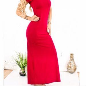 COLDWATER CREEK red LONG dress stretch MAXI XL
